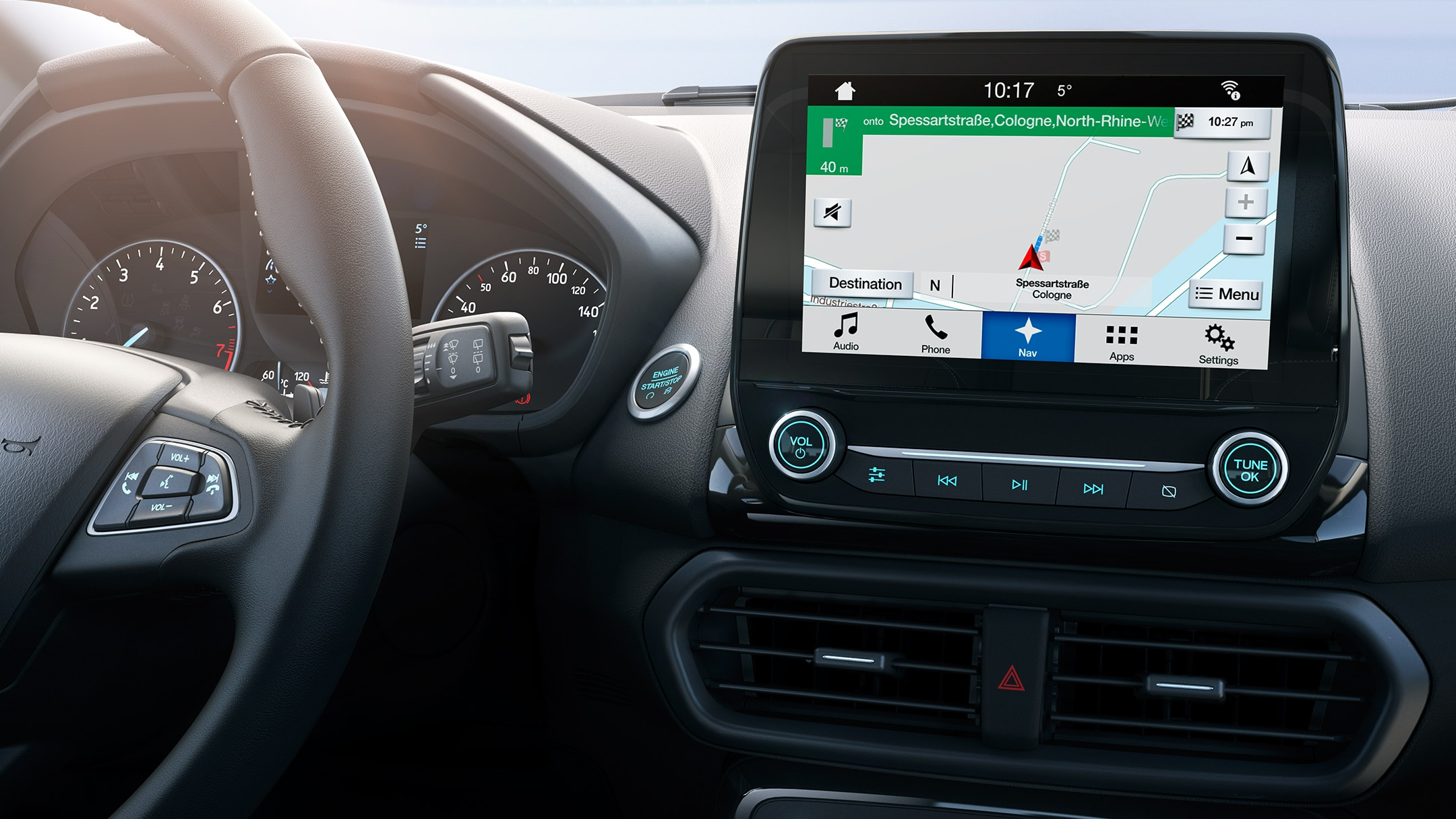 New Ford EcoSport SYNC 3 display