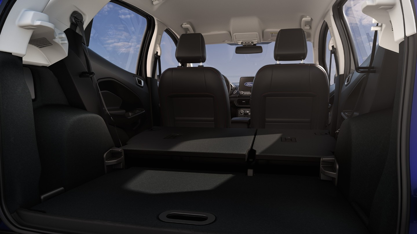 Ford EcoSport rear storage and folded seats