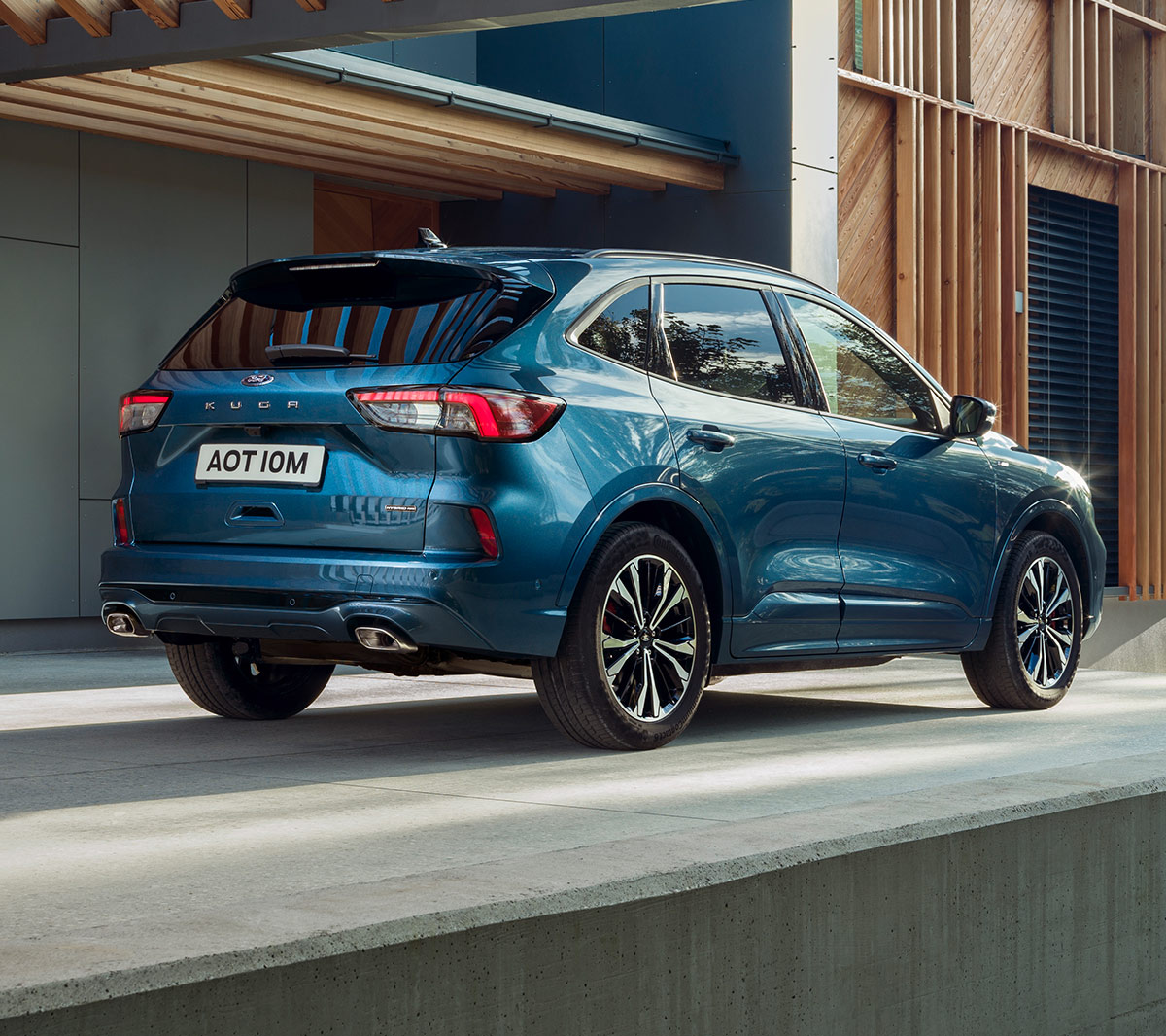 New Ford Kuga Hybrid ST-Line X parked from the rear